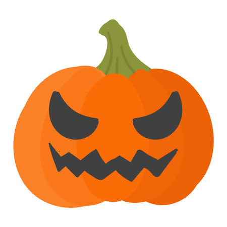 pumpkin head: Pumpkin head vector illustration. Pumpkin head isolated on white background. Pumpkin head vector icon illustration. Pumpkin head isolated vector. Pumpkin head silhouette Illustration