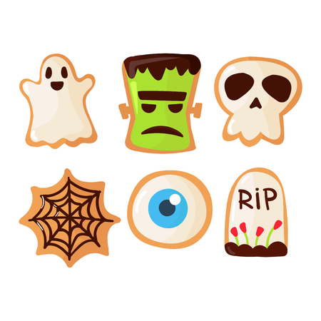 halloween symbols: Halloween symbols vector autumn fear creepy traditional sign. Halloween horror design icons. Celebration october halloween symbols.