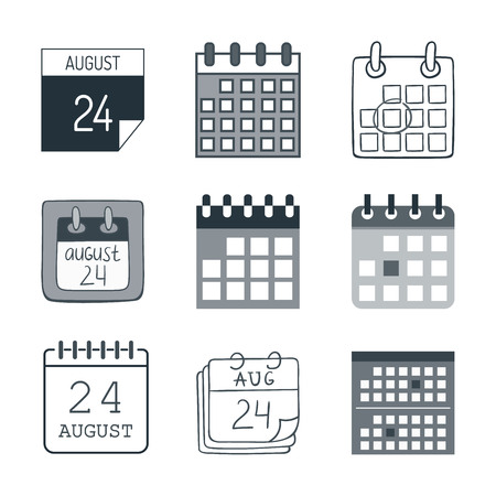 Calendar icon vector isolated graphic reminder element message symbol. Calendar icon message template shape office calendar icon appointment. Binder schedule calendar icon.