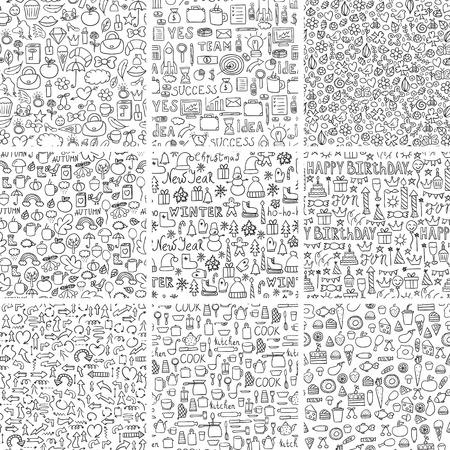 Conjunto De Patrones De Repetición Perfecta Abstracta De Estilo ...