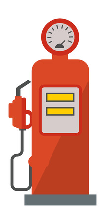 fossil fuel: Gasoline pump retro design service transport tank benzine. Fuel, station, oil, diesel, energy, transportation gasoline pump. Power service transport gasoline pump fossil refueling symbol vector. Illustration
