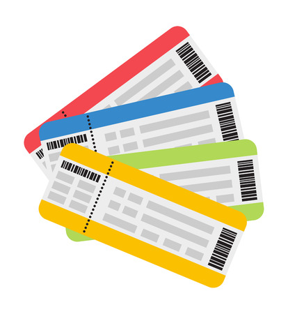 plane tickets: Vector illustration plane tickets. Holiday plane tickets, vacation plane tickets concept. Plane tickets travel, tourism business vacation, trip pass tourist flight symbol.