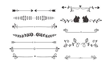 divisore di testo, grunge elemento può essere separato facilmente. separatori di testo decorazione vasta selezione di diverse modificabile. divisori Vector o si rompe separatori di testo di disegno della decorazione in stile vintage.