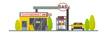 fuel storage: Oil tank in cargo service terminal. Piping factory power system fuel storage gas oil station steel chemical pump sign. Petroleum technology refinery factory gas oil station business transportation.