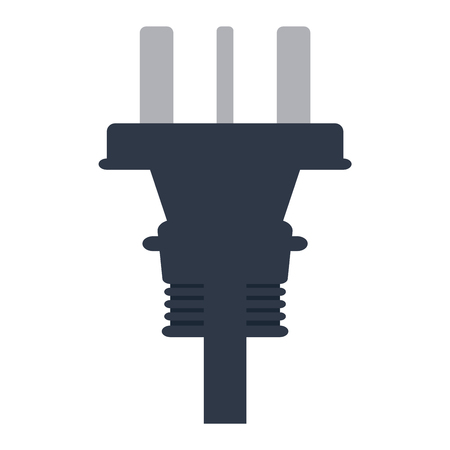 electric outlet: Electric outlet illustration on white background. Energy socket electrical outlet plug appliance interior icon. Wire cable cord connection electrical outlet plug