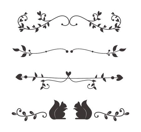 テキストの分割、グランジの要素を簡単に分けることができます。テキスト区切り記号の装飾の大きい選択多様な編集。ベクトルの仕切りまたは区切りテキスト区切り記号装飾ビンテージ スタイル デザイン。 写真素材 - 63722915