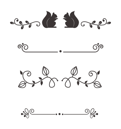 separators: Text divider, grunge element can be separated easily. Text separators decoration large selection of diverse editable. Vector dividers or breaks text separators decoration vintage style design.