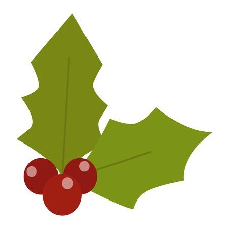 ilex: European christmas berry holly ilex aquifolium leaves and fruit. Floral branch red xmas winter decor christmas berry symbol.  decorative holly christmas berry leaf traditional ornament symbol. Stock Photo
