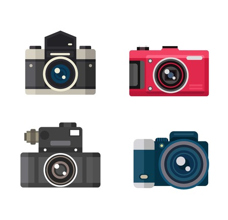 old photograph: Photo camera vector. Camera photography isolated symbol photograph digital equipment. Retro technology camera vintage element sign film. Illustration