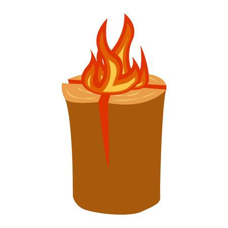 Isolated illustration of campfires logs burning bonfires. Bonfires on white background. Vector bonfire isolated and wood explosion glowing bonfire isolated. Red nature burning blazing power vector. Illustration
