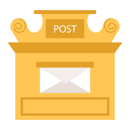 mail box: Beautiful rural mailboxes vector illustration. Traditional communication empty postage post mail box. Letter message post mail box service correspondence.