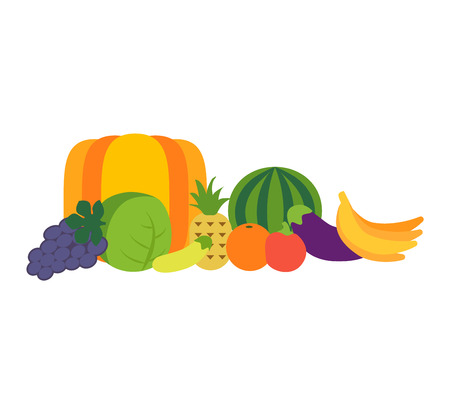 mediterranean food: Mix of colored tropical fruits on white background. Composition of tropical and mediterranean fruits healthy food concepts decoration. Vitamin healthy eating food tropical fruits vegetarian nutrition.