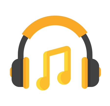 Headphones vector icon isolated on a white background. Computer headphones icon web. Technology headphones music equipmen