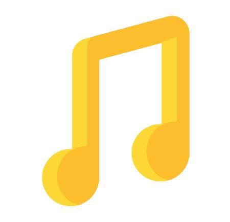 quaver: Music note vector icon silhouette graphic sign