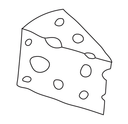 cheddar: Cheddar cheese slice on white background. Food healthy product, snack frash milk gourmet breakfast vector illustration. Fresh cheese slice and healthy cheese slice. Gourmet cheese slice.