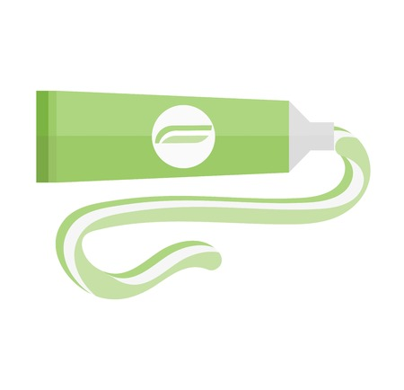 Some tube flat vector illustration. Product tube of glue, gel, toothpaste.