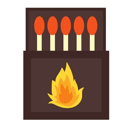 ignite: burning matches pack. Matches and hot lighters. Matches ignite and bright flammable lighters.  burning matches sticks