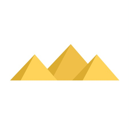 cheops: Egypt pyramids vector illustration and egypt pyramids isolated on white background. Egypt pyramids vector icon illustration. Egypt pyramids isolated vector. Egypt pyramids silhouette Illustration