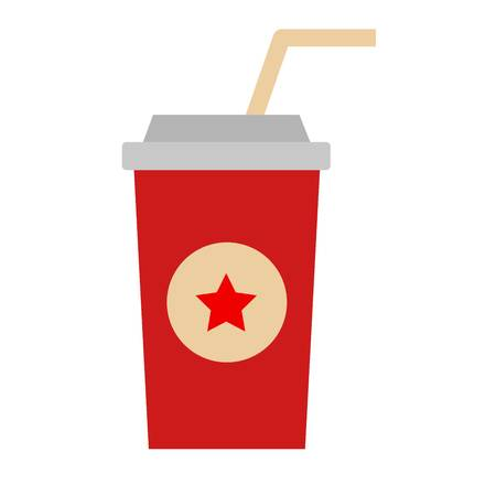 plastic straw: Dark green cardboard take out drink cup with straw isolated on white. Isolated beverage plastic container take out drink cup. Paper take out drink cup cold unhealthy fast food.