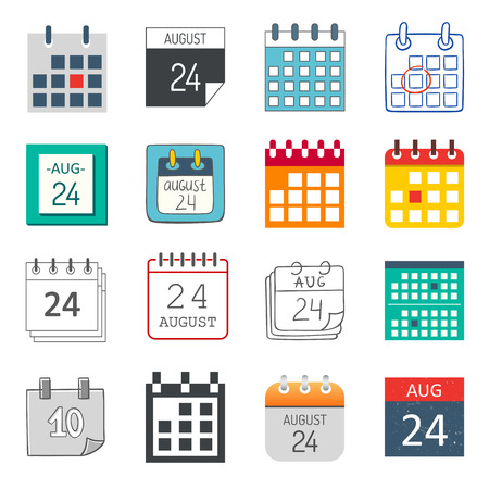 Calendar icon isolated graphic reminder element message symbol. Calendar icon message template shape office calendar icon appointment. Binder schedule calendar icon.