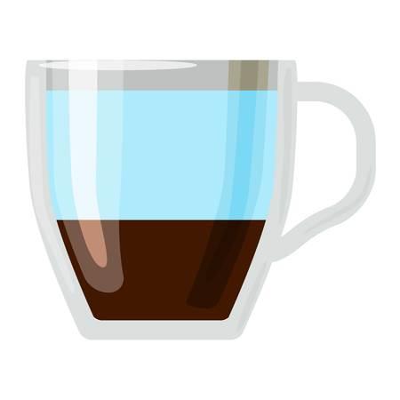 fredo: tazze di caffè diversi tipi di bevande caffè americano tazza con prima colazione schiuma bevanda segno mattina vettoriale. tazze di caffè prima colazione e le tazze caffè del mattino. Tazze di caffè con schiuma, diversi caffè di schiuma.