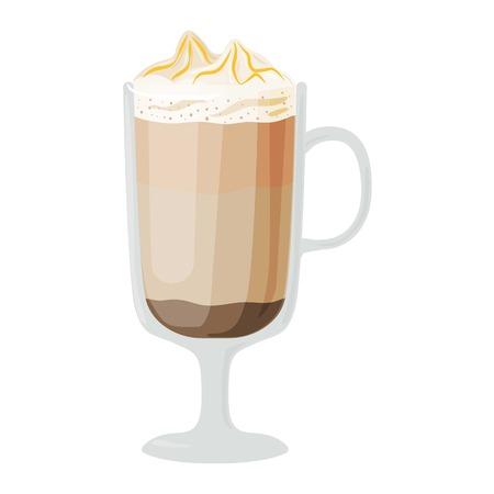 fredo: Tazze di caffè diversi caffè bevande tipi moka frappe tazza con prima colazione schiuma bevanda segno mattina vettore. tazze di caffè prima colazione e le tazze caffè del mattino. Tazze di caffè con schiuma, diversi caffè di schiuma.
