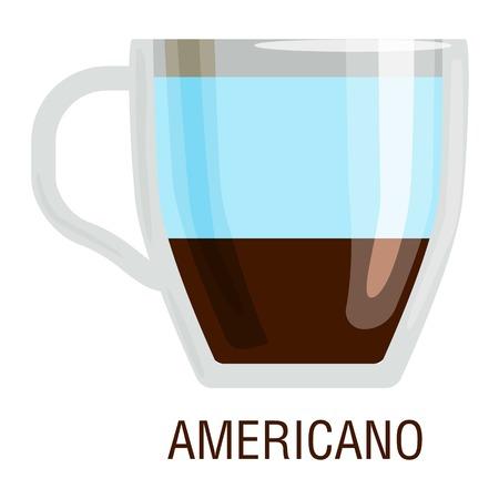 fredo: Coffee cups different cafe drinks types americano mug with foam beverage breakfast morning sign vector. Coffee cups breakfast and morning coffee cups. Coffee cups with foam, different foam coffee.