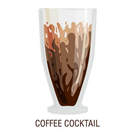 fredo: Coffee cups different cafe drinks types coffee cocktail mug with foam beverage breakfast morning sign vector. Coffee cups breakfast and morning coffee cup Vettoriali