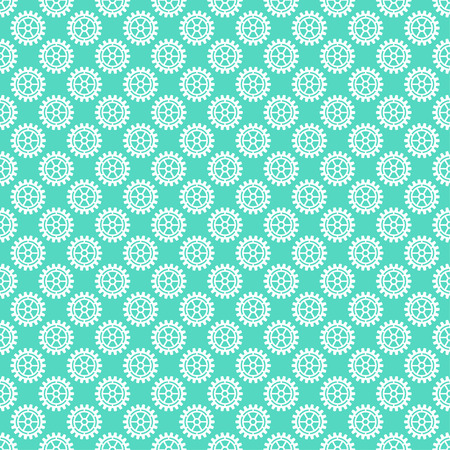 Vector gears icons seamless patterns machine wheel mechanism machinery mechanical, technology technical sign. Engineering symbol, round element gears icons.