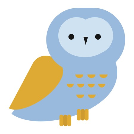Owl wild bird and nature cartoon owl. Wildlife design cartoon character predator flying animal. Great horned Bubo virginianus subarcticus flat cartoon wild vector. Zdjęcie Seryjne - 69687625