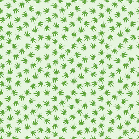 marihuana: Green marijuana background vector illustration. marihuana background leaf pattern repeat seamless repeats. Marijuana leaf background herb narcotic textile pattern. Different vector patterns. Illustration