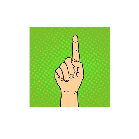 Hand pointing sign isolated on white background. Arm gesture symbol business. Concept success people tablet index drag. Input human palm button vector.