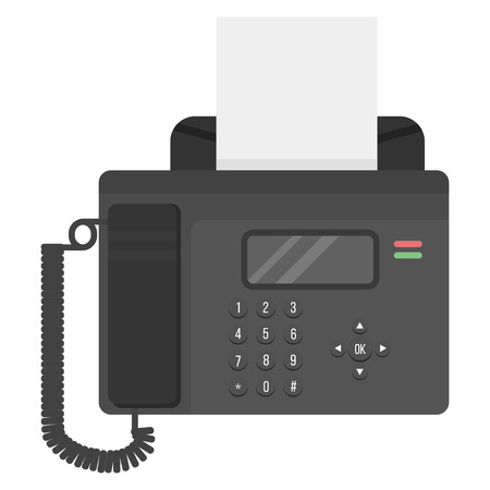 electronic gadget: Office business phone and icon of classic connection vector. Modern style technology call vector illustration isolated. Analog electronic gadget with antenna and keypad.