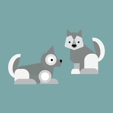 Eskimo dog white samoyed puppy barking vector cartoon animal. Cute canine purebred pet and fluffy husky companion. Friend furry puppy north mouth siberian character.
