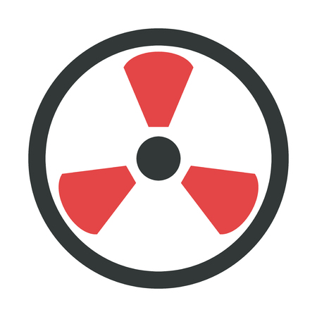 security alarm: Radiation icon danger button and attention warning sign. Security alarm symbol. Warning problem advice information and notification icon vector.