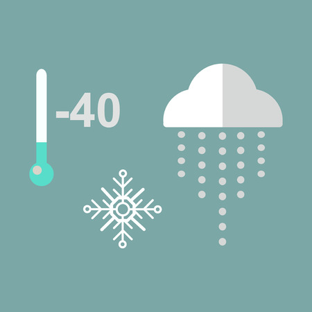 accuracy: Cold thermometer temperature icon vector illustration. Cold indicator degree instrument scale cold weather. Science mercury sign diagnostic accuracy.