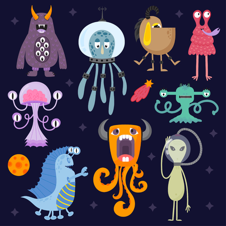 ugly gesture ugly gesture: Set of different funny cartoon monsters. Cute alien characters. Creature happy illustration devil colorful animal. Halloween cool gesture face bacteria or comic viruses.
