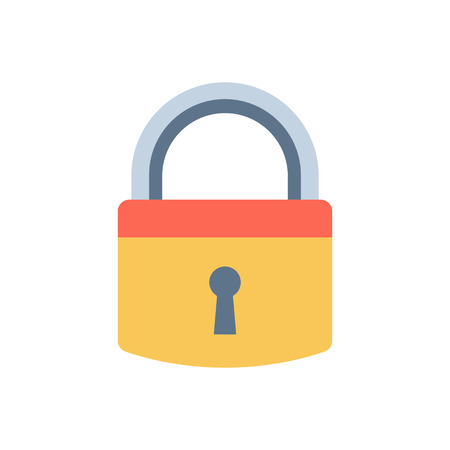 private access: Lock iconand security protection. Safety password sign privacy element and access shape open. Private safeguard modern firewall equipment vector collection.