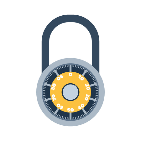 safeguard: Lock iconand security protection. Safety password sign privacy element and access shape open. Private safeguard modern firewall equipment vector collection.
