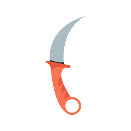 Knife weapon dangerous sign. Vector illustration of sword spear. Edged traditional weapon. Combat andbonder bayonet cold protection or attack steel arms.