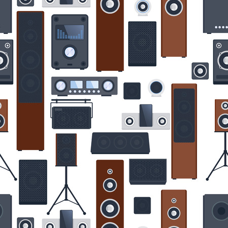 cd recorder: Music systems vector set.