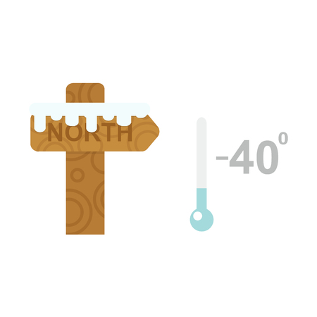 cold temperature: Thermometer cold temperature vector illustration Illustration