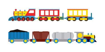 Toy train vector illustration.