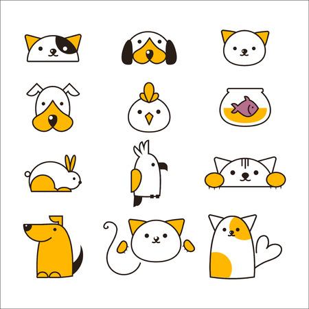 Vector de symboles de magasin d'animaux de compagnie.