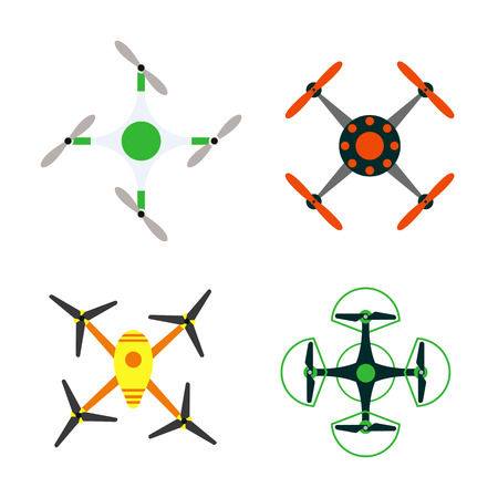 Drone quadcopter vector.