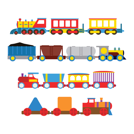 high speed train: Toy train vector illustration.
