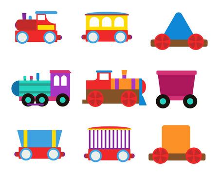 high speed train: Toy train vector illustration.