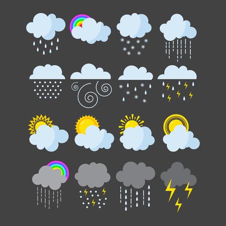 Set van weer iconen vector.