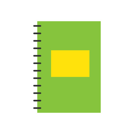 Notepad notebook isolated on white vector.