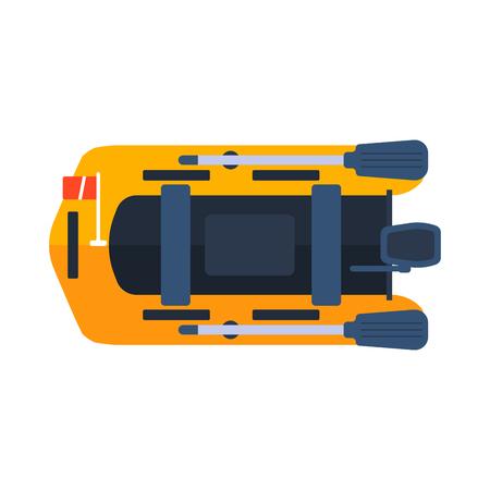 dinghy: Dinghy boat vector illustration. Illustration